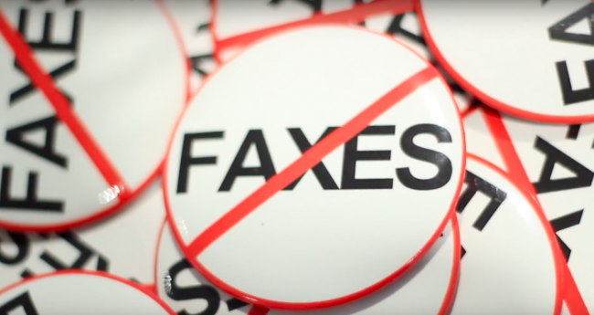 No faxes