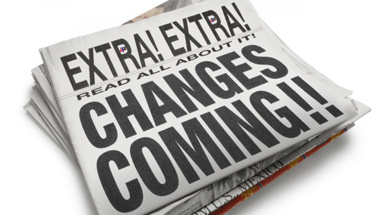 Changes coming newspaper