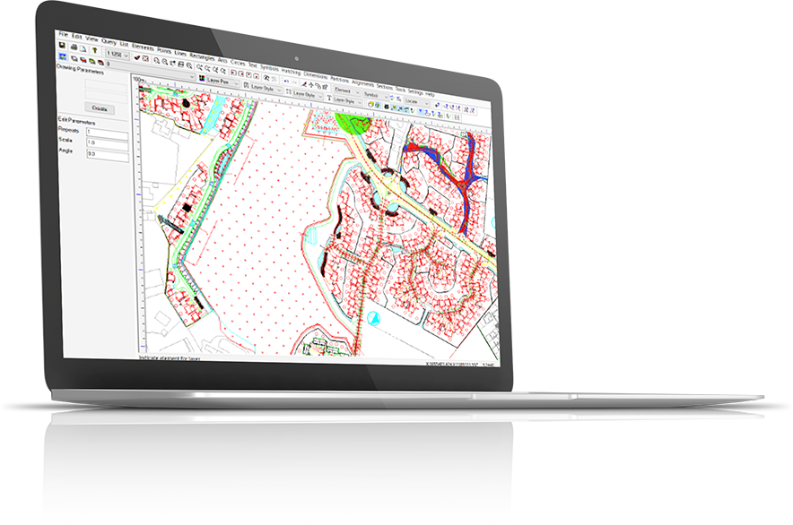 Software example on laptop