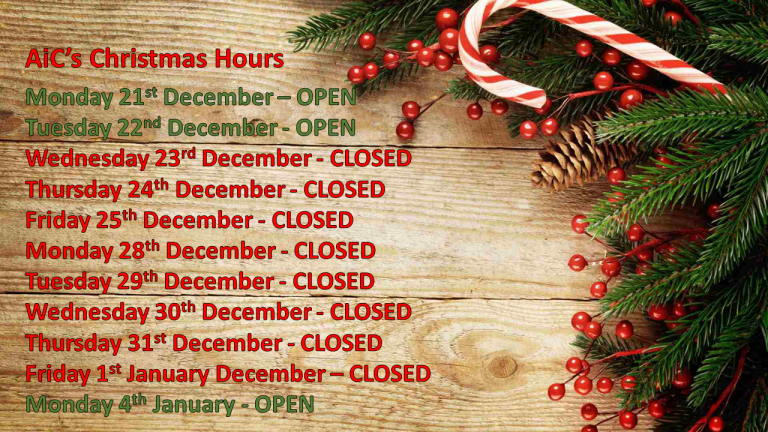 Dates of opening hours